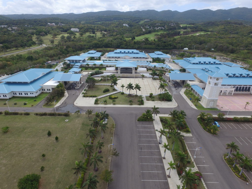 Aerial view of the Montego Bay Convention Centre
