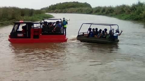 Irie Safari Swamp Buggy on water