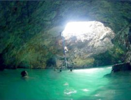 Blue hole mineral spring Negril
